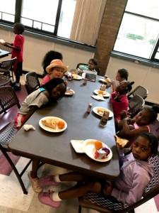 Kids enjoying lunch at Fleetwood